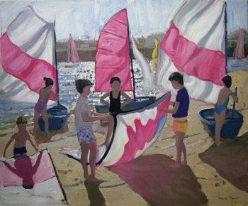 Sailboat, Royan, France, 1992 Canvas-taulu