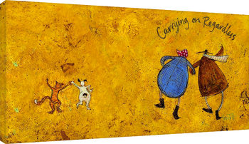 Sam Toft - Carrying on regardless II Canvas-taulu