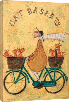 Sam Toft - Cat Baskets Canvas-taulu