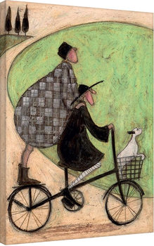 Sam Toft - Double Decker Bike Canvas-taulu