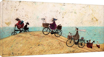 Sam Toft - Electric Bike Ride Canvas-taulu
