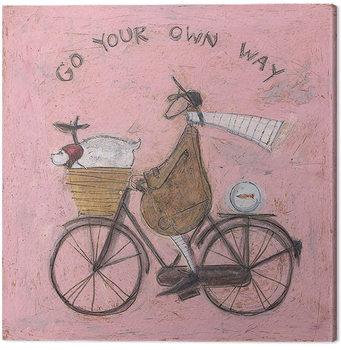 Sam Toft - Go Your Own Way Canvas-taulu