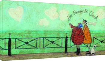 Sam Toft - Her favourite cloud II Canvas-taulu