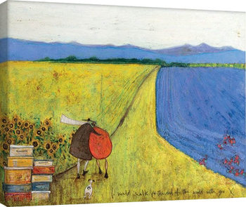 Sam Toft - I Would Walk To The End Of The World With You Canvas-taulu