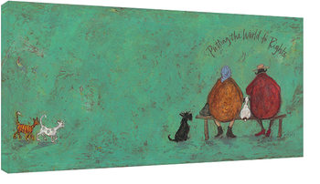 Sam Toft - Putting the words to right Canvas-taulu