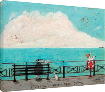 Sam Toft - Sharing out the Chips Canvas-taulu