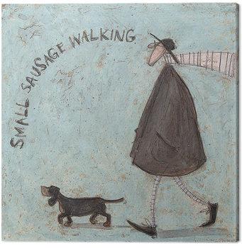 Sam Toft - Small Sausage Walking Canvas-taulu