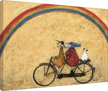Sam Toft - Somewhere Under a Rainbow Canvas-taulu