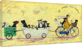 Sam Toft - The doggie taxi service Canvas-taulu