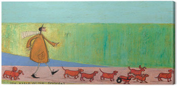 Sam Toft - The March of the Sausages Canvas-taulu