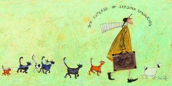 Sam Toft - The suitcase of sardine sandwiches Canvas-taulu