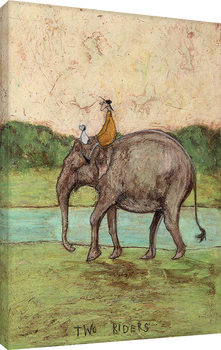 Sam Toft - Two Riders Canvas-taulu