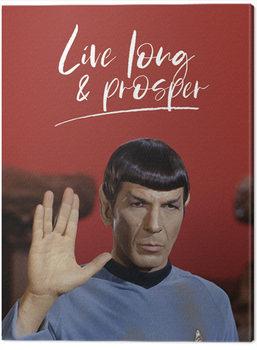 Star Trek - Live Long and Prosper Canvas-taulu