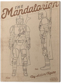 Star Wars: The Mandalorian - Action Figure Canvas-taulu