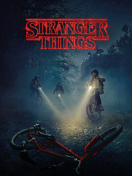 Stranger Things - Bike Canvas-taulu
