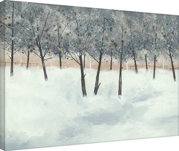 Stuart Roy - Silver Trees on White Canvas-taulu