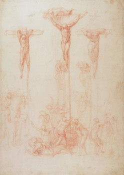 Study of Three Crosses Canvas-taulu