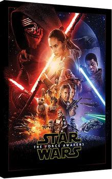 Tähtien sota: Episodi VII - The Force Awakens - Rey Tri Canvas-taulu