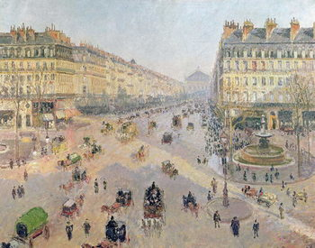 The Avenue de L'Opera, Paris, Sunlight, Winter Morning, c.1880 Canvas-taulu