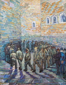 The Exercise Yard, or The Convict Prison, 1890 Canvas-taulu