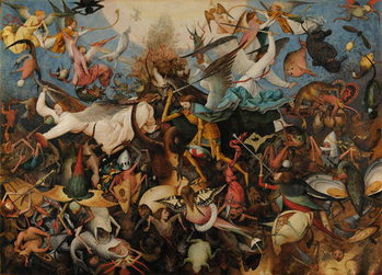 The Fall of the Rebel Angels, 1562 Canvas-taulu