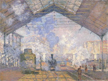The Gare St. Lazare, 1877 Canvas-taulu