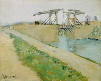 The Langlois Bridge, March 1888 Canvas-taulu