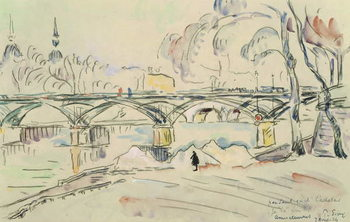 The Pont des Arts, 1924 Canvas-taulu