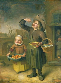 The Syrup Eater (A Boy Licking at Syrup) Canvas-taulu