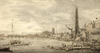 The Thames Looking towards Westminster from near York Water Gate Canvas-taulu