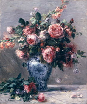 Vase of Roses Canvas-taulu