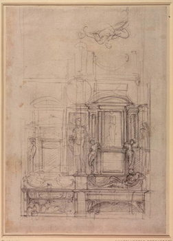 W.26r Design for the Medici Chapel in the church of San Lorenzo, Florence Canvas-taulu