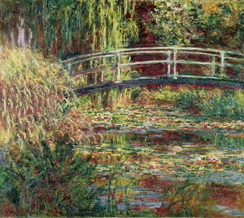 Waterlily Pond: Pink Harmony, 1900 Canvas-taulu