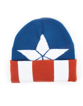 Cap  Captain America - Beanie with knitted pattern