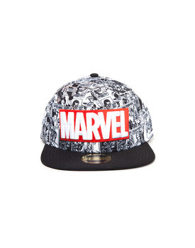 Cap  Marvel - Red and White Logo