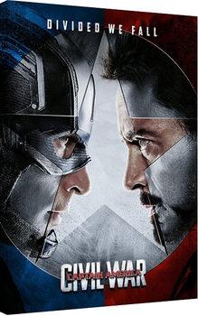 Captain America Civil War - Face Off Canvas Print