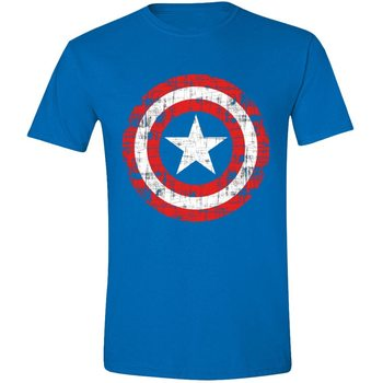 T-paita Captain America - Cracked Shield