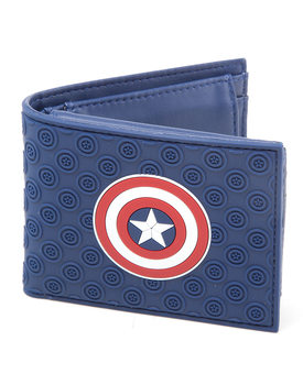 Carteira Captain America Civil War hield Logo Rubber Bifold