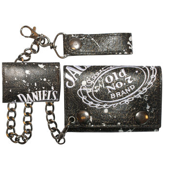 Carteira  Jack Daniel's - Painted Trifold Chain Wallet