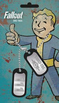 Chapa de identificação Fallout 4 - Vault Tec
