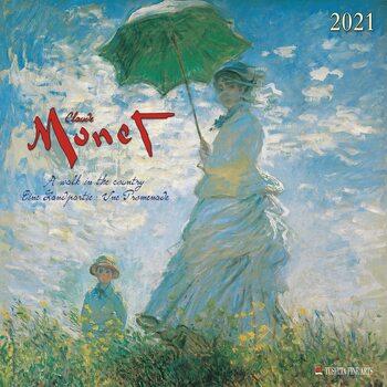 Calendar 2021 Claude Monet - A Walk in the Country