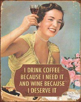 COFFEE - I Need It Plaque métal décorée
