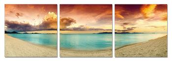 Colorful Beach Tableau Multi-Toiles