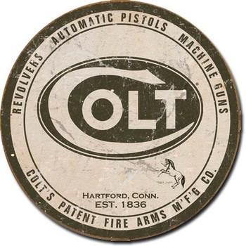COLT - round logo Plaque métal décorée