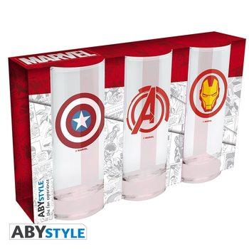 Copo Marvel - Avengers, Captain America & Iron Man