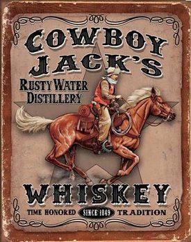COWBOYS JACK'S - Whiskey Plaque métal décorée