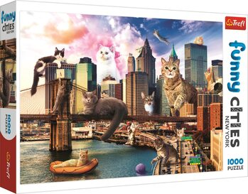 Palapeli Crazy City - Cats in New York