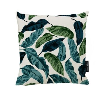 Cushion Blue and Green Leavs