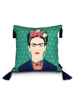 Cushion Frida Kahlo - Green Vogue