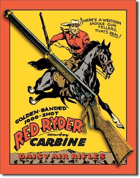 DAISY RED RYDER CARBINE Plaque métal décorée